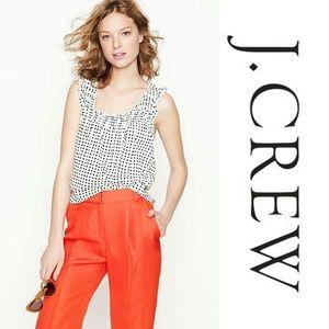 🌱 J. CREW Smocked Top in Dapple Dot